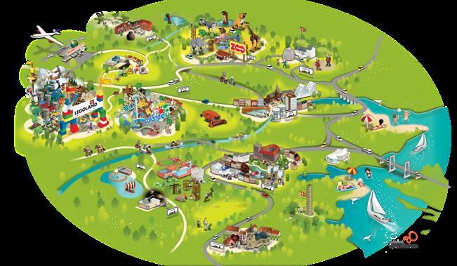 kort over Legoland www fisse com